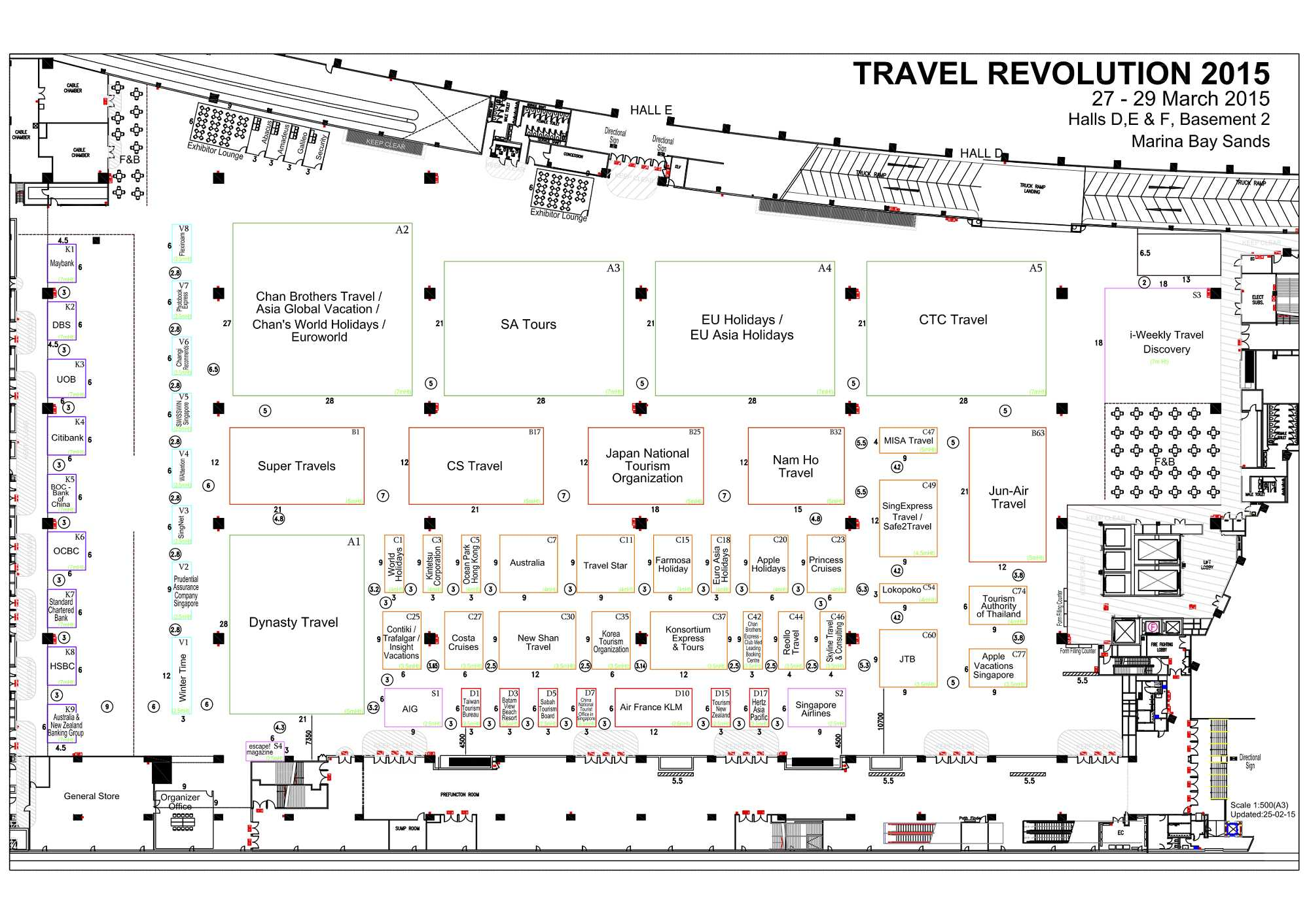 Travel Revolution 2015 Floor Plan