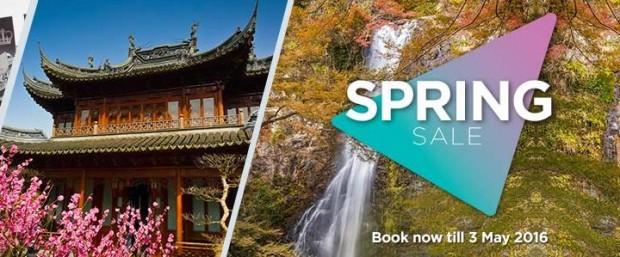 Don't Miss the Spring Sale of Malaysia Airlines until tonight!