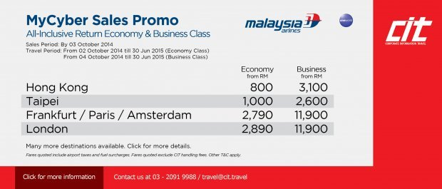 MyCyber Sales Promo - Malaysia Airlines
