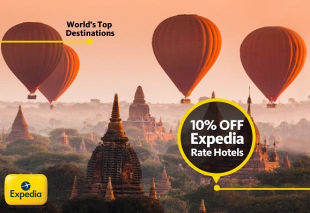 10% Off on Hotel Bookings in Expedia.sg and Maybank