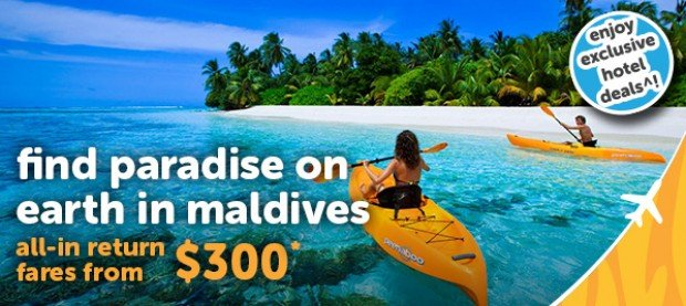 Explore Maldives with TigerAir from SGD 300