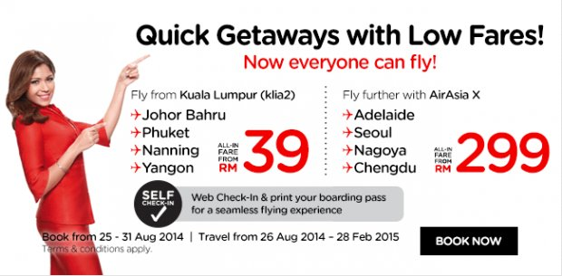 Quick getaway with low fares! Now everyone can fly!