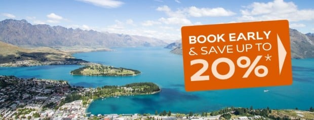 Book Early, Save up to 20% in great locations across New Zealand and Fiji!