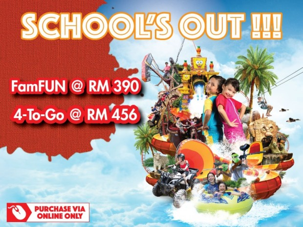 School's Out! Time to Have Fun at Sunway Lagoon from RM390