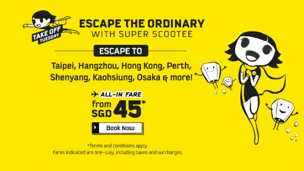 Scoot your Next Adventure from SGD 45 this Tuesday