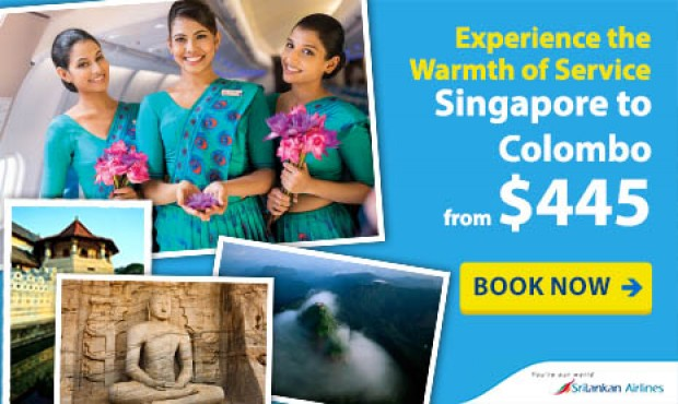 Fly to Colombo from SGD445 with CheapTickets and SriLankan Airlines