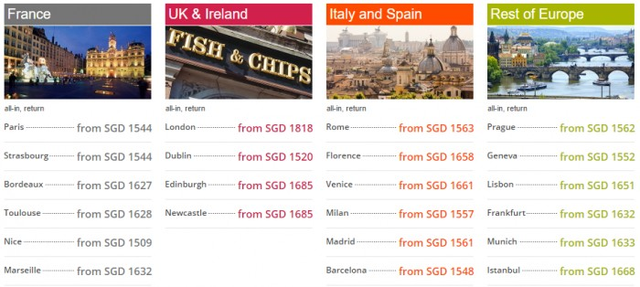 Cheap Air Tickets Deals Economy Class Fares From Sgd 1 544