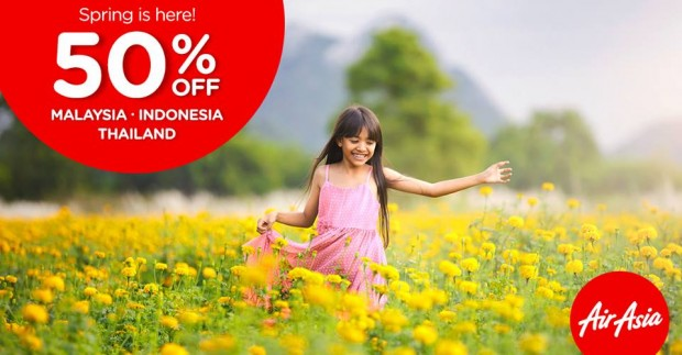 50% Off Malaysia, Indonesia and Thailand with AirAsia