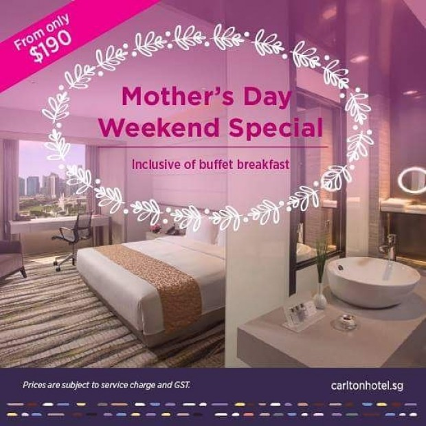 Mothers Day Staycation from SGD190 in Carlton Singapore