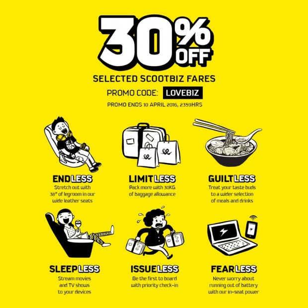 30% Off for ScootBiz Seats to Everyone