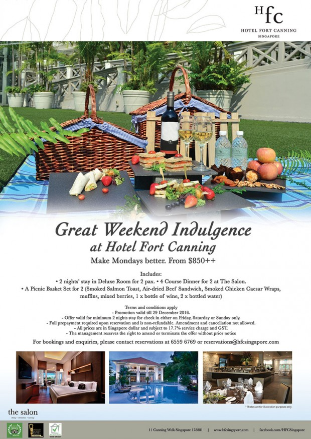 Great Weekend Indulgence at Hotel Fort Canning