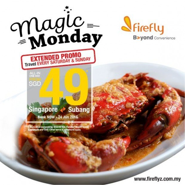 Extended Promo Flight to Subang with Firefly Airlines from SGD49