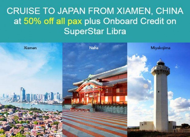 Japan is Calling you to Cruise at 50% Off with Star Cruises' SuperStar Libra
