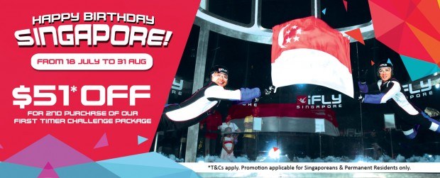 SGD51 Off with iFly Singapore National Day Promotion
