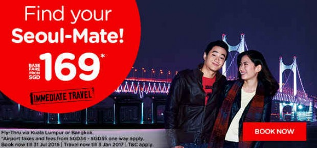 Find Your Seoul-Mate from SGD169 with AirAsia