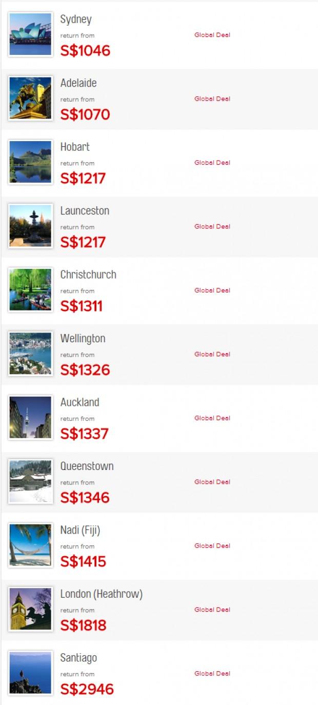 Qantas International Flights from Singapore to Sydney 2