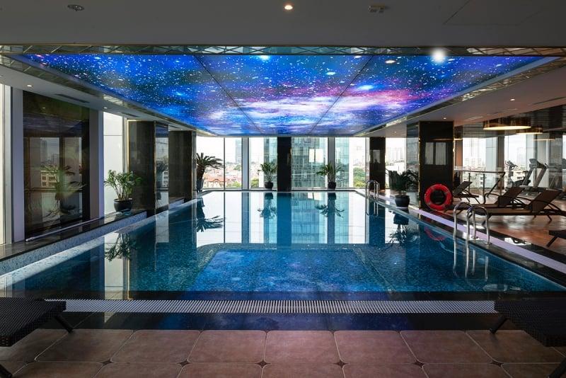 indoor heated swimming pool in wyndham garden hanoi