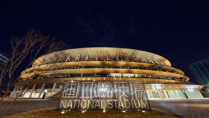 New National Stadium night