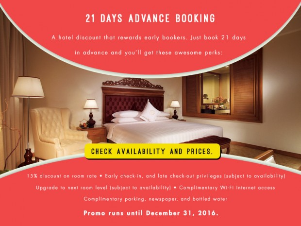 Save 15% Off when Book 21 Days in Advance at The Royale Chulan
