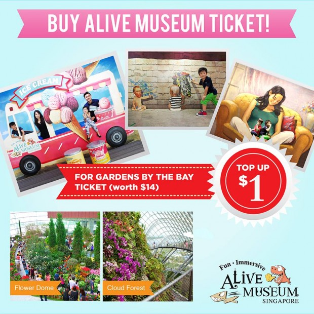 33% Off for Best 2 Attractions in Marina Bay with Alive Museum and Gardens by the Bay