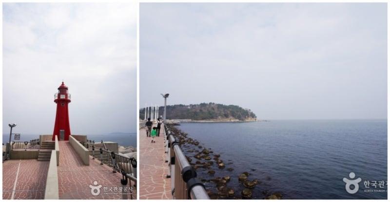 Ngọn hải đăng ở cảng Daepohang, Sokcho