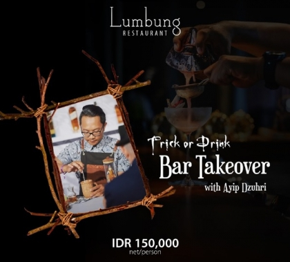 Trick or Drink Bar Takeover with Ayip Dzuhri