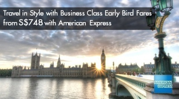 Fly in Style with Singapore Airlines and American Express from SGD748