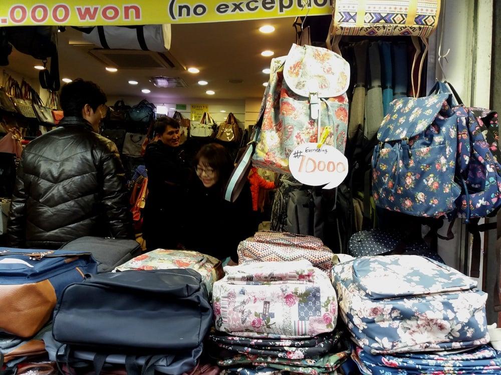 bags as Korea souvenirs