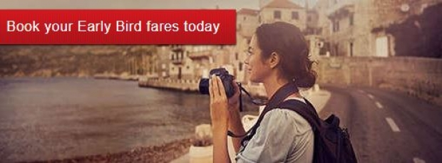 Book your Early Bird Fares Today to Europe, America and Middle East with Emirates