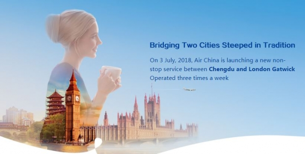 Fly to London via Chengdu with Air China from SGD965