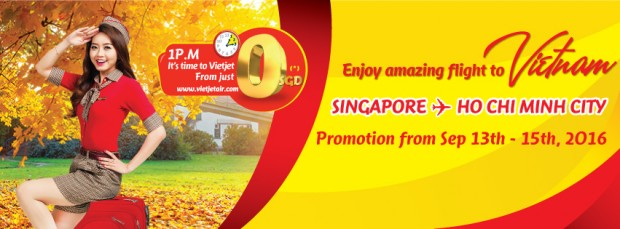 Fly to Ho Chi Mnh City with Vietjet Air from SGD0*