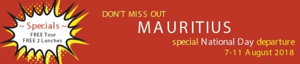 Special National Day Package with Air Mauritius from SGD 1,318
