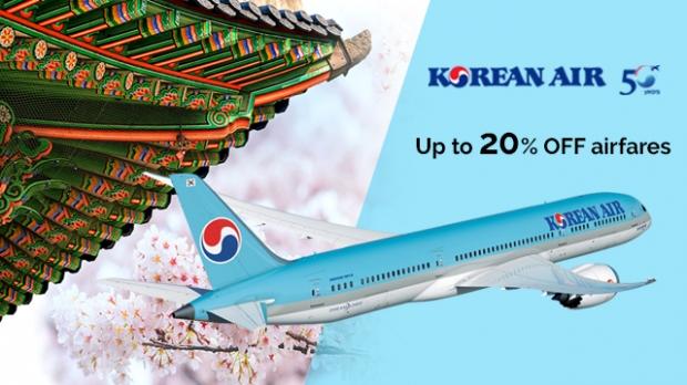 Enjoy 20% Off Fares in Korean Air with NTUC Card