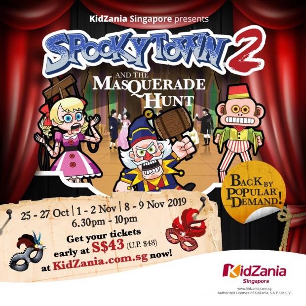 SpookyTown 2: The Masquerade Hunt at KidZania Singapore