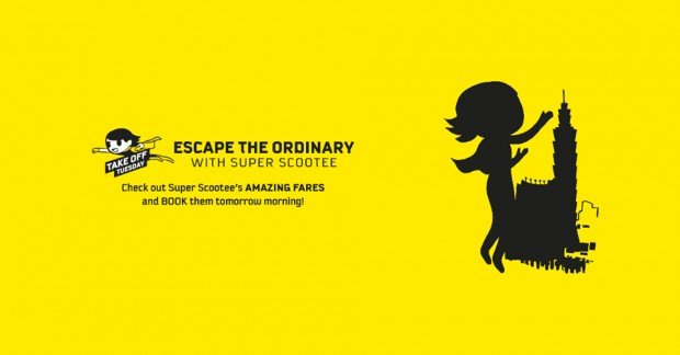 Escape the Ordinary and Scoot from SGD48 this Tuesday