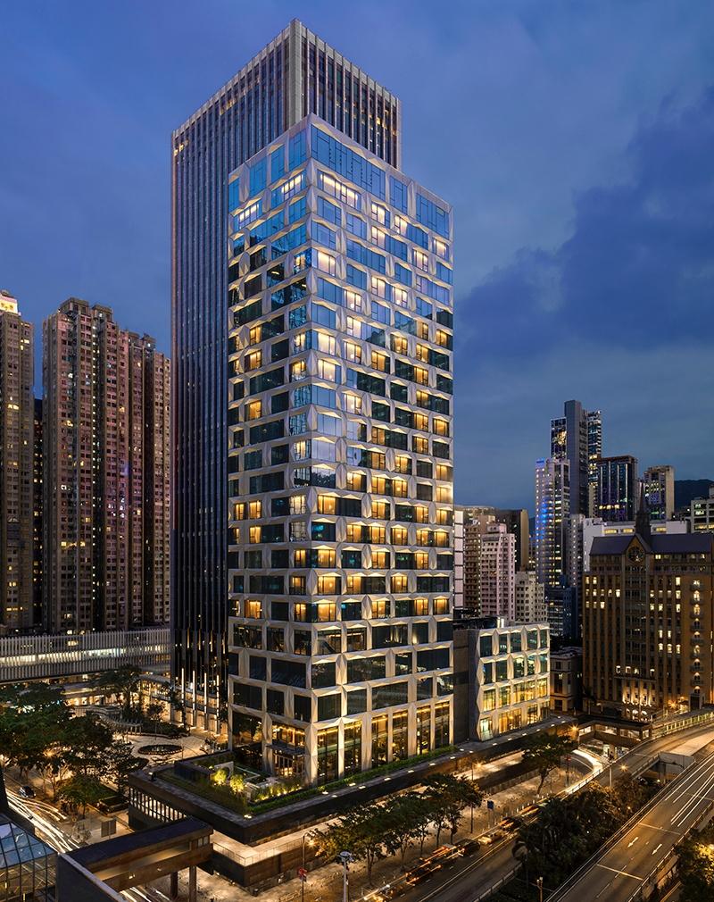 st regis hong kong facade