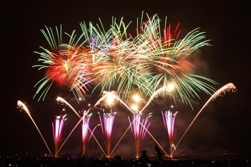 lake suwa fireworks festival