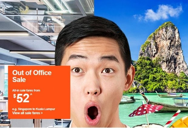 Out of the Office Sale in Jetstar from SGD52