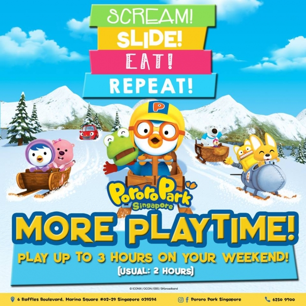 More Playtime in Pororo Park Singapore on Weekends this April