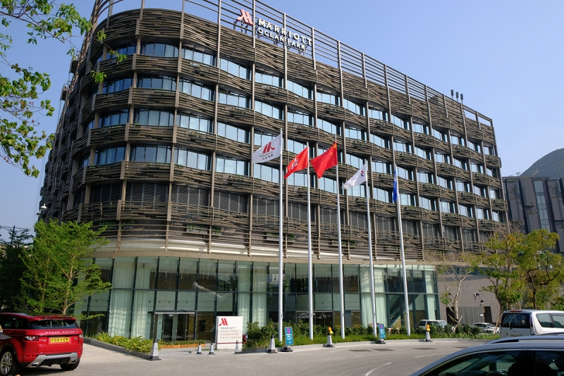 hong kong ocean park marriott hotel facade
