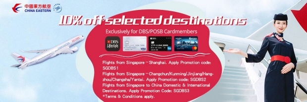 10% Off Selected Destinations with China Eastern Airlines and DBS Card