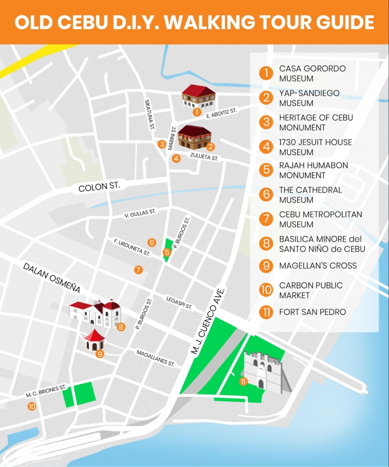 Cebu City Map Guide 11 Cebu City Historical Sites for Your DIY Walking Tour