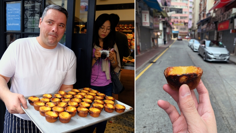 bakehouse owner and egg tart