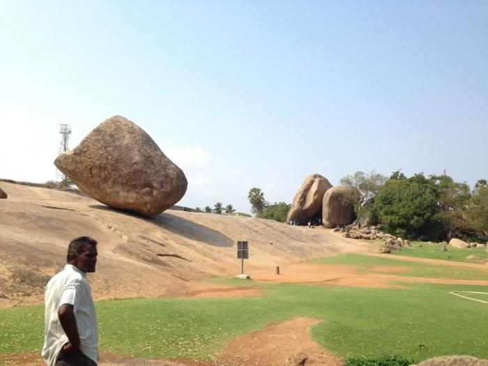 naturally formed rocks at Mahabalipuram