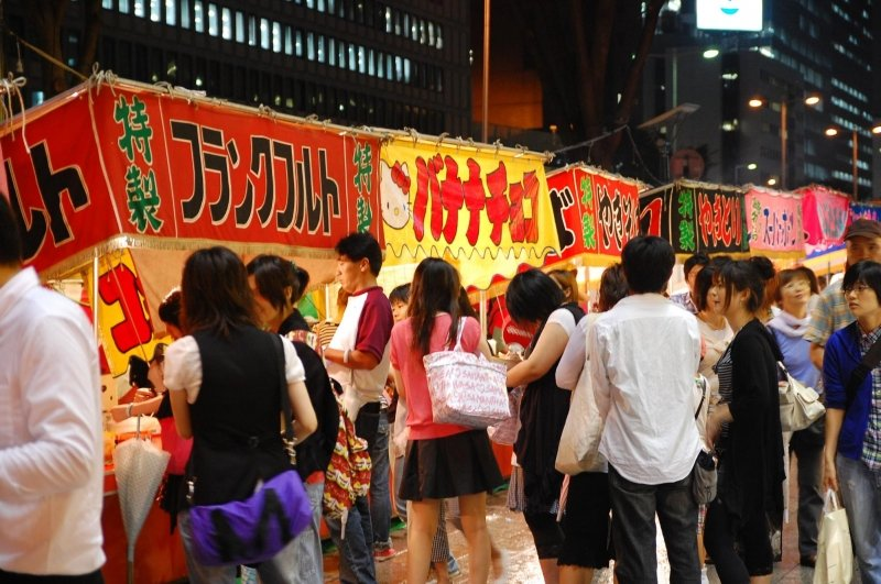 yatai at sendai tanabata festival