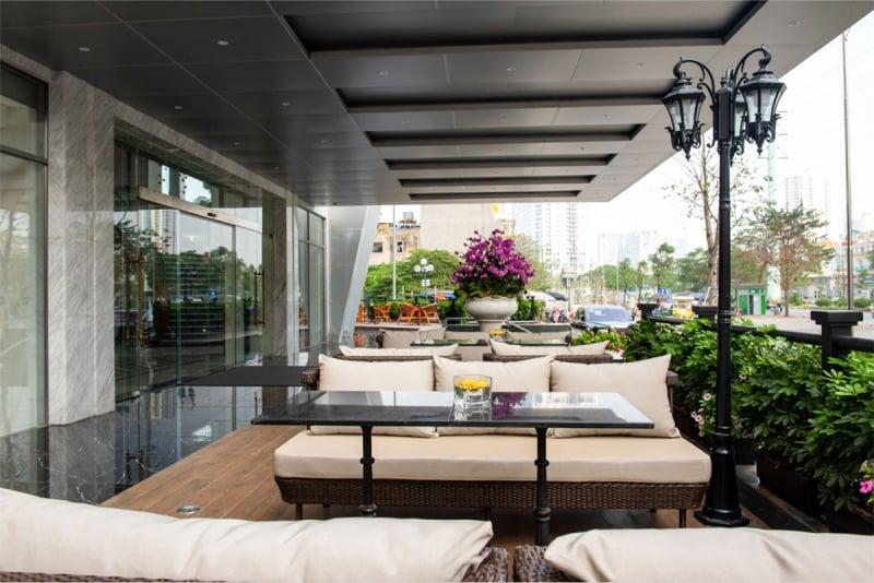 outdoor terrace at wyndham garden hanoi