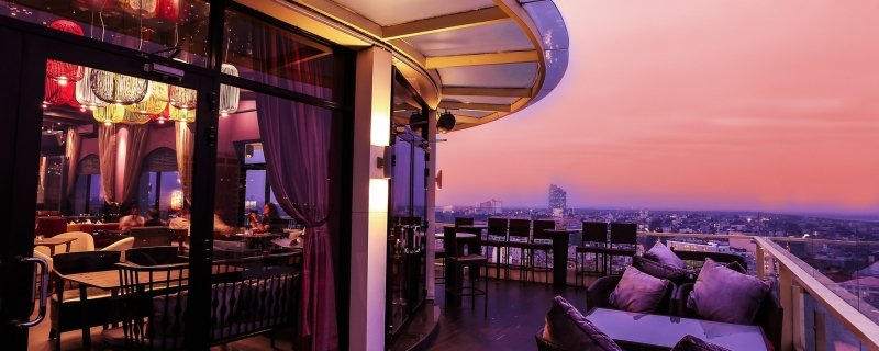 the rooftop restaurant and bar