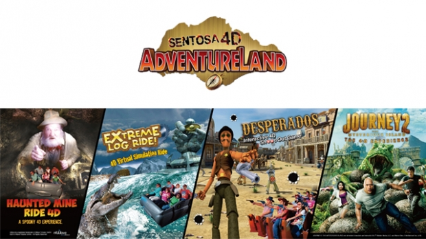 """1-FOR-1 adult """"4-in-1"""" Combo at Sentosa 4D AdventureLand with NTUC"""