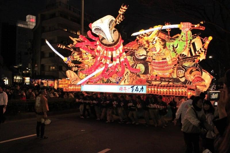 parade float at aomori nebuta festival