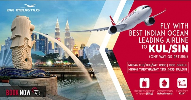 Fly to Kuala Lumpur with Air Mauritius from SGD100 1